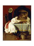 The Young Artist, 1867 Gicléedruk van John George Brown