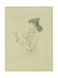 Portrait of Sarah Bernhardt, 1879 Giclée-vedos tekijänä Jules Bastien-Lepage