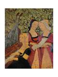 Breton Women Gicléetryck av Paul Serusier