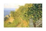 On Island of Elba Giclée-tryk af Telemaco Signorini