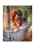 The Bath; Le Bain Giclee Print by Henri Lebasque