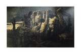 Hostages of Crema Giclee Print by Gaetano Previati