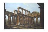 Temple of Poseidon in Paestum Giclée-tryk af Antonio Joli