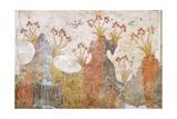 Room of Lilies or Spring, Akrotiri Fresco, Thera Giclée-tryk