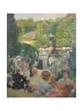 Le Parc De Monsouris, View Towards the Bandstand Giclée-Druck von Ludovic Vallee