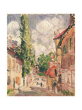 Road in a Village Giclee Print by Alfred Sisley