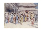 Lookers-On Giclee Print by Mortimer Ludington Menpes