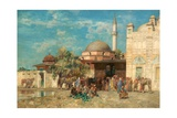 A Moorish Market Place Giclee Print by Alberto Pasini