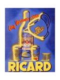Poster Advertising 'Ricard', C.1938 Reproduction procédé giclée