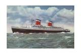 American Ocean Liner Ss United States Gicléedruk van  American School