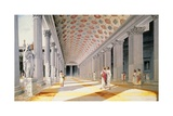 Trajan's Forum - Reconstruction of the Colonnade Giclée-tryk af  Italian School