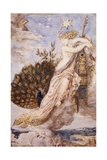 Peacock Complaining to Juno Giclee Print by Gustave Moreau