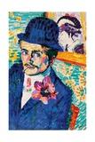 Man with a Tulip Impressão giclée por Robert Delaunay