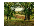 Chestnut Trees at Osny, C.1873 Giclee Print by Camille Pissarro