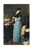 Mother Reproduction procédé giclée par Silvestro Lega