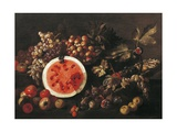 Still Life with Fruit Giclee Print by Giuseppe Recco