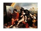 Jupiter and Painter Giclée-tryk af Dosso Dossi