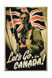 Let's Go Canada!', 1st World War Poster Giclee Print