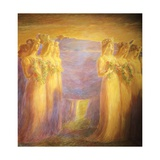 Funeral of Virgin Giclee Print by Gaetano Previati
