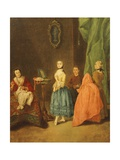 Trying on Dress Giclee Print by Pietro Longhi