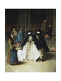 Woman Selling Essences Giclee Print by Pietro Longhi