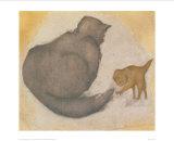 Cat & Kitten Affiches par Edward Burne-Jones