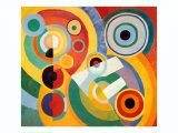 Ritme, levensvreugde Schilderij van Robert Delaunay