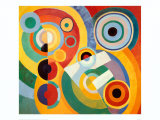 Rhythm, Joie De Vivre Art by Robert Delaunay