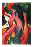 Marc-Red Woman Print by Franz Marc
