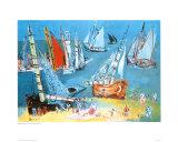 Bateaux Dans Ie Port Print by Raoul Dufy