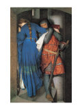 Meeting on the Turret Stairs Giclée-tryk af Frederick William Burton