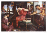 Penelope and Her Suitors Posters af John William Waterhouse