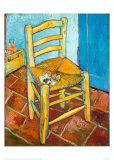 Chair with Pipe Plakater av Vincent van Gogh
