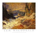Falls, Montreal River Art by J. E. H. MacDonald