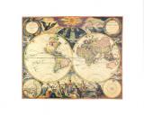Orbis Terrarum Nova I Affiches par Pieter Goos