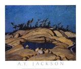 Night, Pine Island Posters af A. Y. Jackson