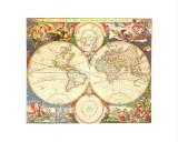 Orbis Terrarum Nova IV Kunst von Nicolao Visscher