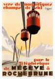 Megeve Posters por Pierre Michaud
