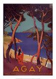 Agay Print by Roger Broders