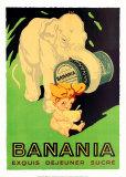 Banania Exquis Dejeuner Sucre Plakater