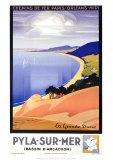 Pyla-Sur-Mer Poster by Pierre Commarmond