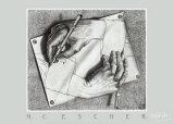 Hænder der tegner Posters af M. C. Escher