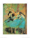Blue Dancers Kunst av Edgar Degas