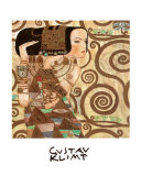 L'attente Affiches par Gustav Klimt