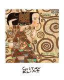 Expectativa, Stoclet Frieze, cerca de 1909, detalhe Posters por Gustav Klimt