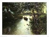 Paysage de rivière Posters par Manuel Garcia Y Rodriguez