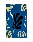 Composition Fond Bleu Print van Henri Matisse