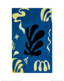 Composition Fond Bleu Poster por Henri Matisse