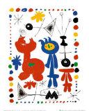 Personnage Et Oiseaux Affiches par Joan Miró
