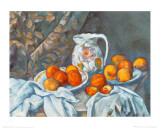 Nature morte avec nappe Art par Paul Cézanne